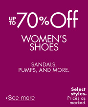 UP to 70% Off Women's Shoes