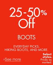 25-50% Off Boots