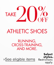 20% Off Athletic Shoes