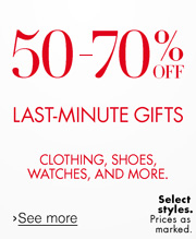 50-70% Off Last Minute Gifts