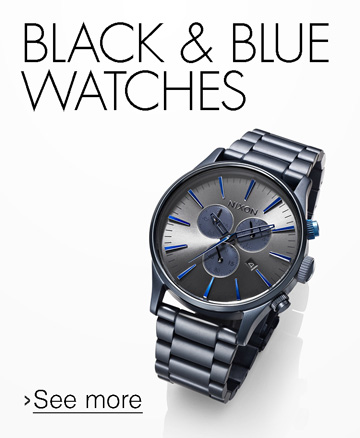 Black and Blue Watches