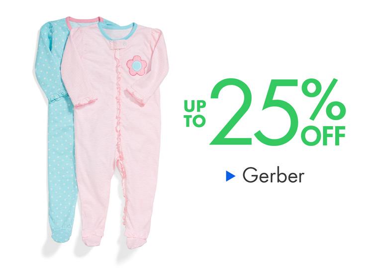 Up to 25% Off Gerber