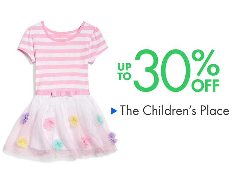 Up to 30% Off The Children's Place