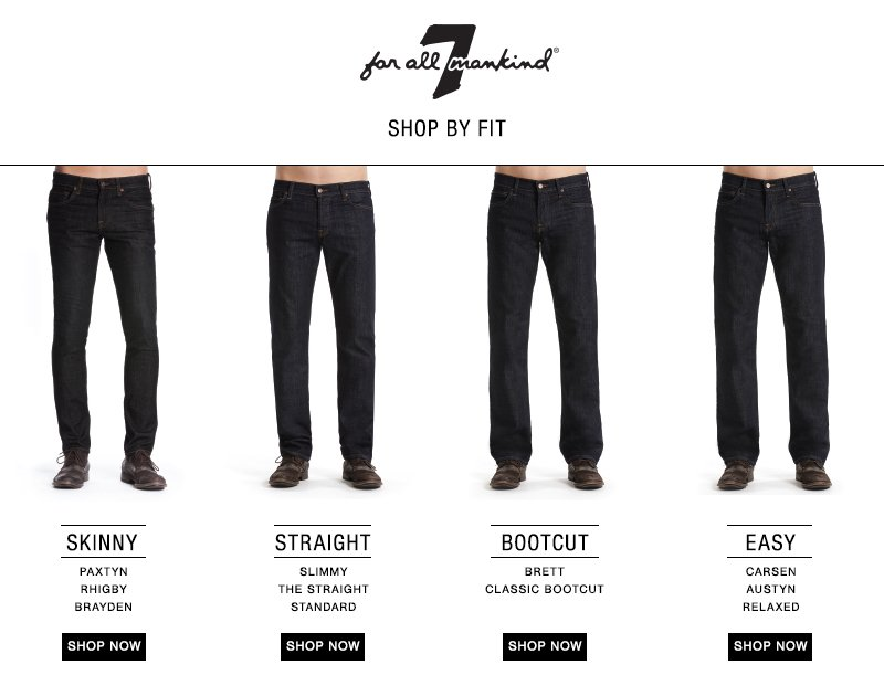 Amazon.com: 7 For All Mankind Men's Fit Guide: Clothing, Shoes ...