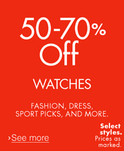 50-70% Off Watches