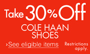 30% Off Cole Haan Shoes