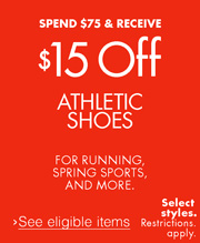 $15 Off $75 Athletic Shoes