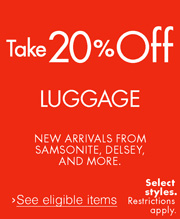 Take 20% Off New Luggage Arrivals