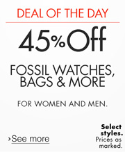 Deal of the Day: 40% or More Off Fossil