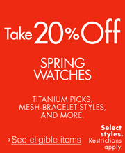 Take 20% Off Spring Watches