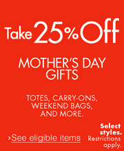 25% Off Mother's Day Luggage Gifts