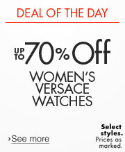 Deal of the Day: Up to 70% Off Women's Versace Watches