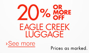 20% or More Off Eagle Creek
