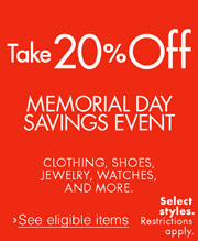 Take 20% Off Memorial Day Savings Event
