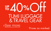 Up to 40% Off Tumi