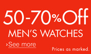 Save 50-70% Off Men's Watches