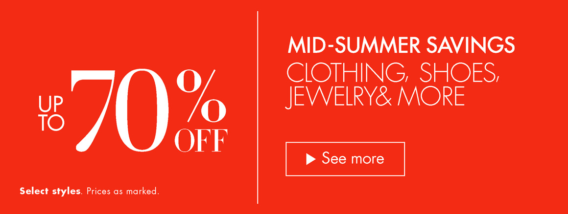 Up to 70% Off Summer Savings