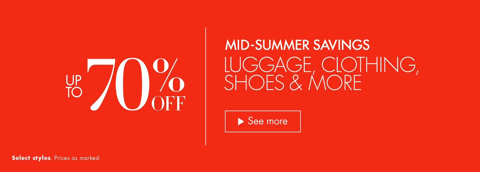 Mid-Summer Savings: Up to 70% Off