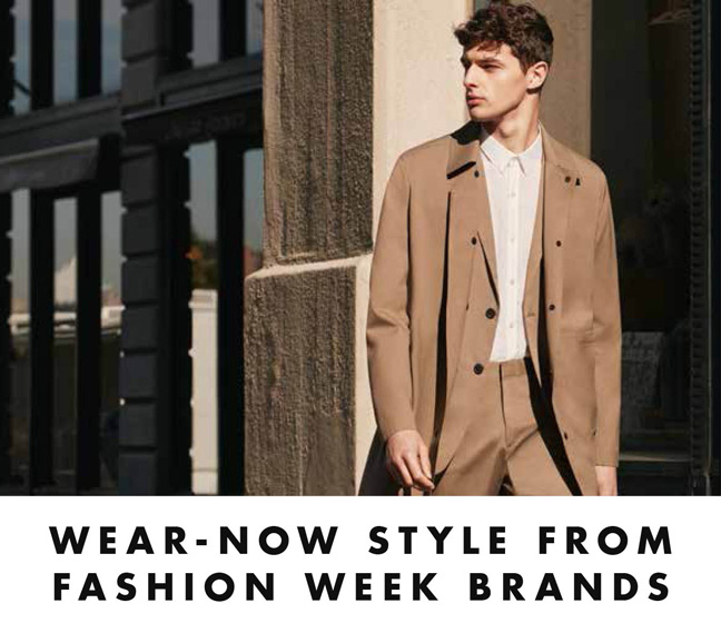 Wear-Now Style from Fashion Week Brands