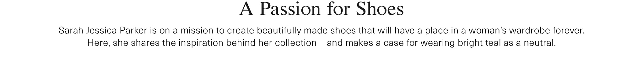 SJP Passion For Shoes