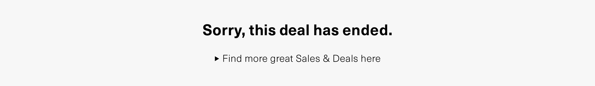 Sorry, this deal has ended.