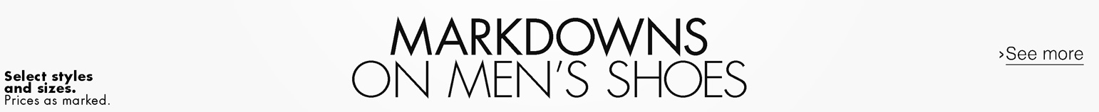 Markdowns On Men's Shoes