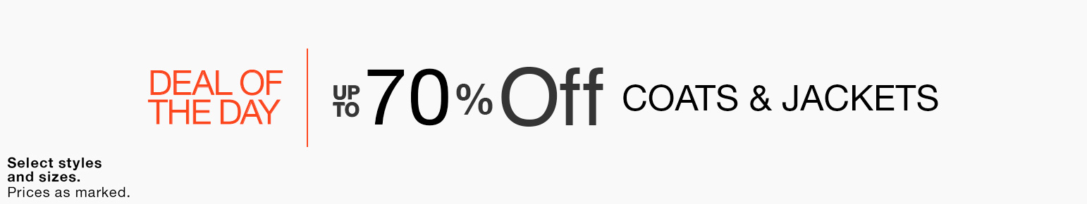 Up to 70% off coats and jackets