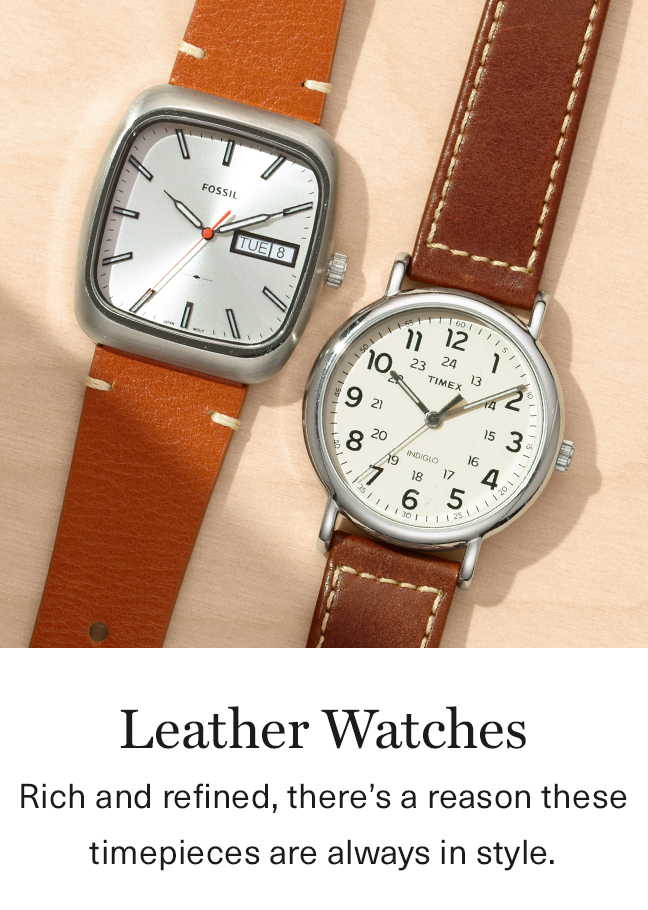 Leather Watches We Love