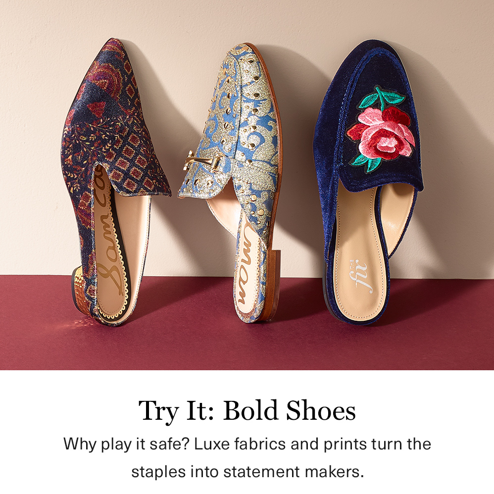 Try it: Bold Shoes