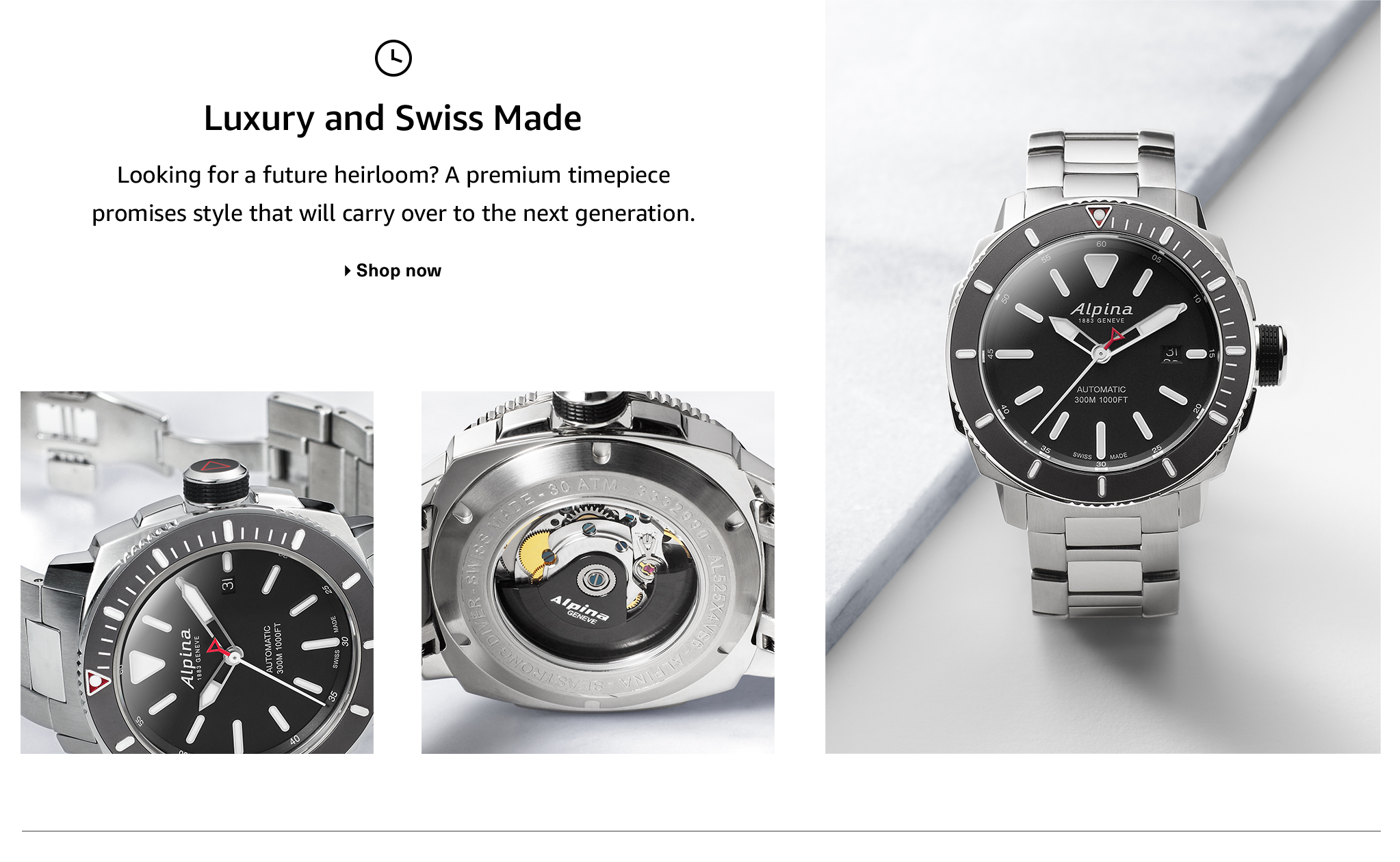 Men's Luxury and Swiss Made Watches