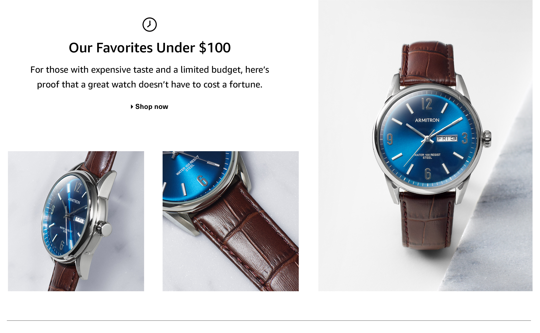 Men's Watches: Our Favorites Under $100