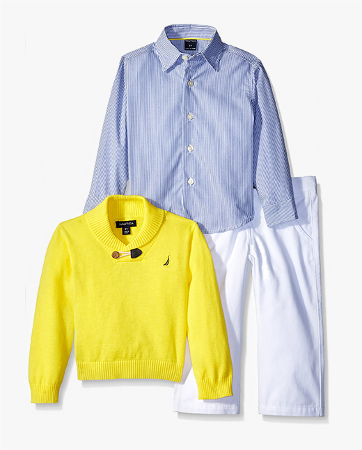 Amazon has infant and toddler boys' sets and more from leading brands like Tommy Hilfiger, Calvin Klein, Halo, Hurley, Gerber, The Children's Place, and Baby Aspen, among others. When it comes to outfitting little boys, we've got you covered–no matter the occasion.