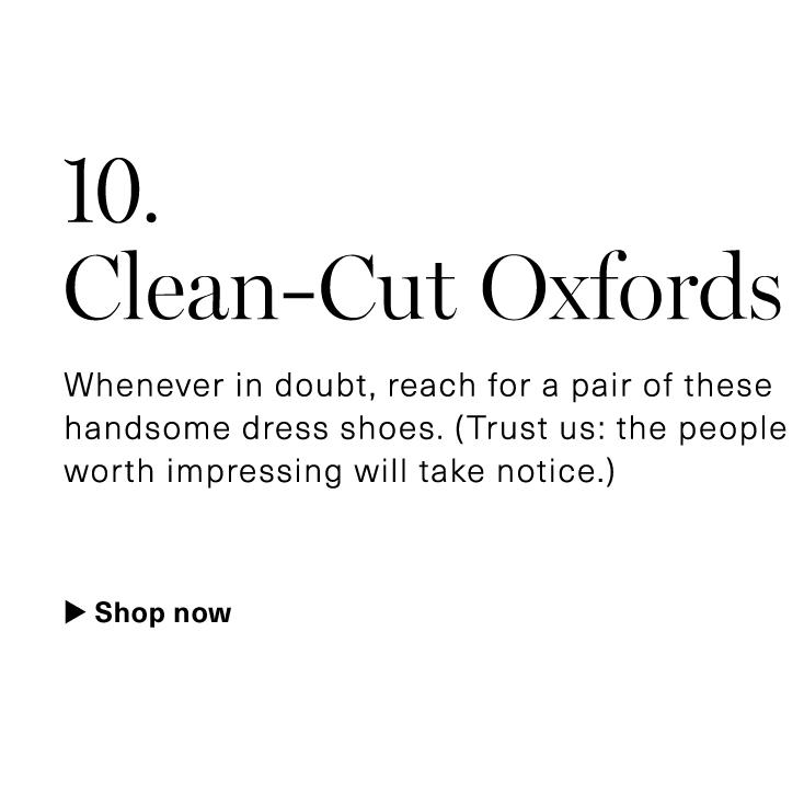 Clean-Cut Oxfords