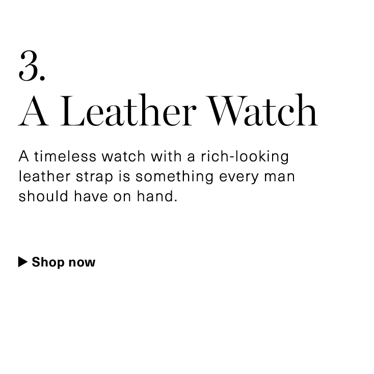 A Leather Watch
