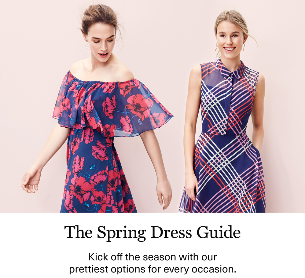The Spring Dress Guide - Kick off the season with our prettiest options for every occasion.