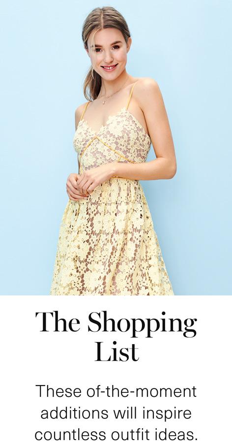 Women's Shopping List