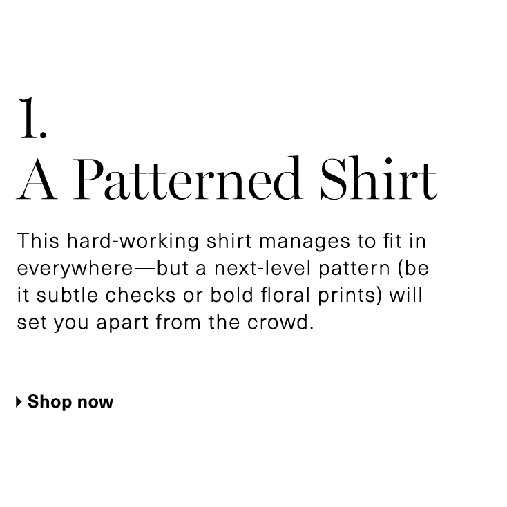 A Patterned Shirt