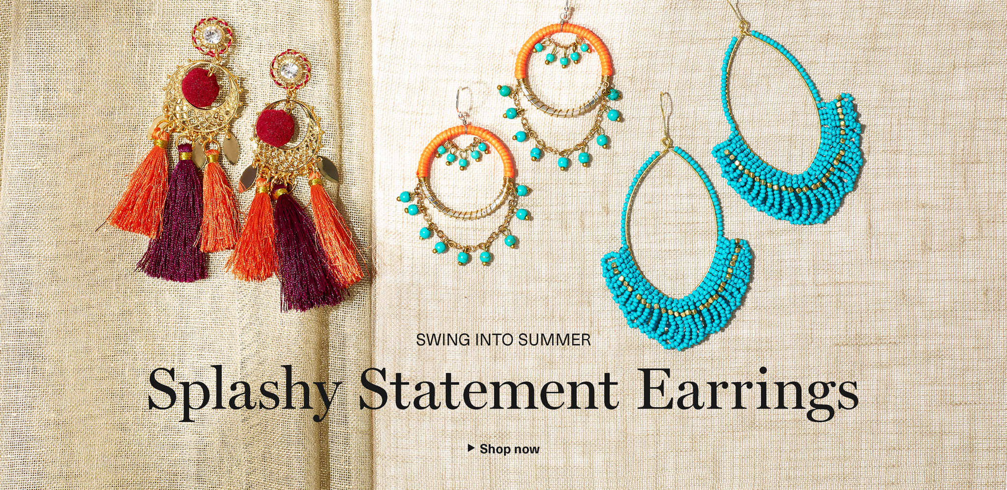 Splashy Statement Earrings