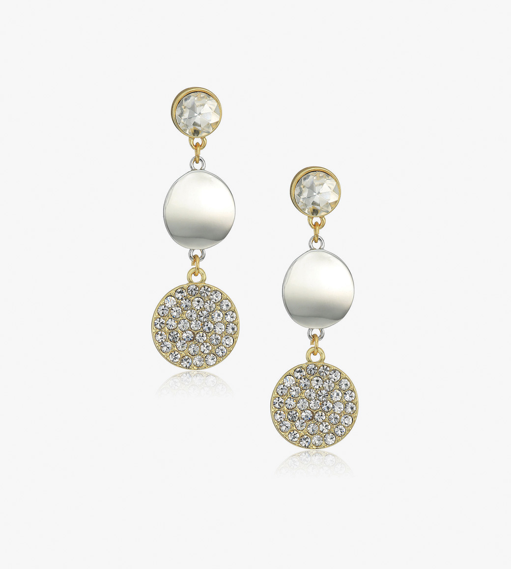 Innovative  Of Old Venice  Oval Gold Foil Drop Earrings  ShopStylecouk Women