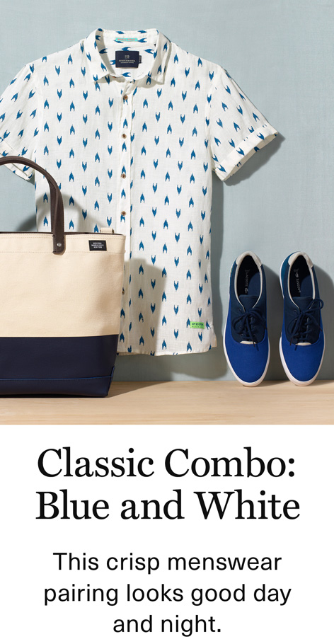 Classic Combo:Blue and White