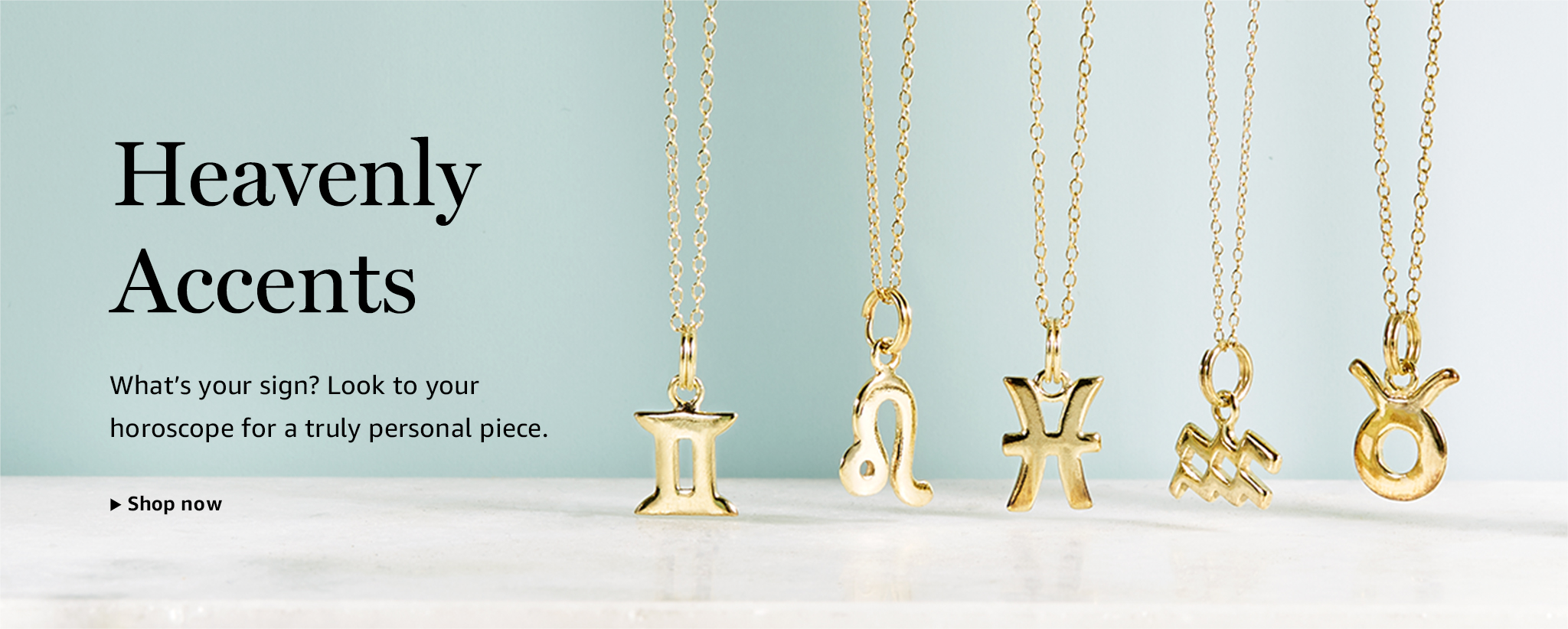 Women's Jewelry - Heavenly Accents: Look to your horoscope for a truly personal piece.