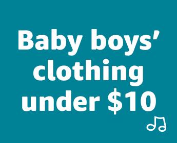 Baby boys' clothing under $10