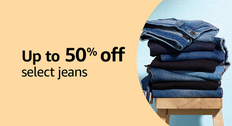 Up to 50% off select jeans
