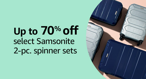 Up to 70% off select Samsonite 2-pc. spinner sets