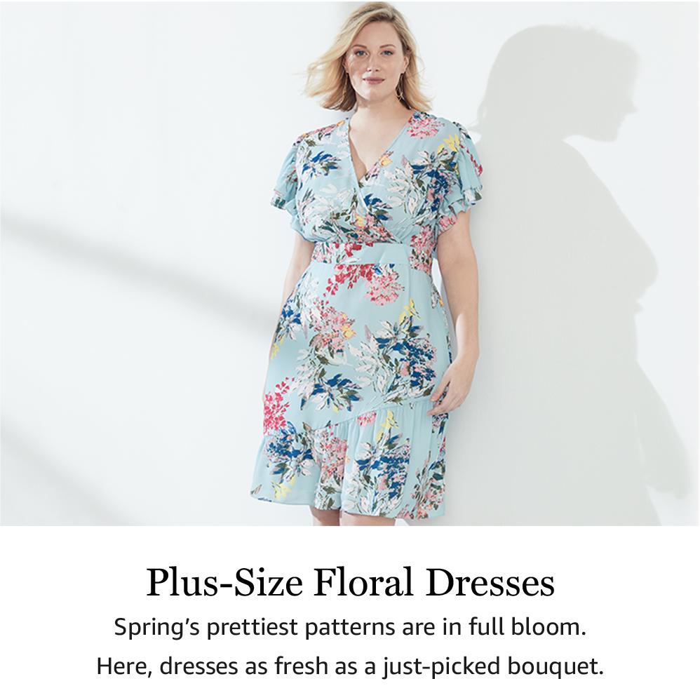 Plus-Size Floral Dresses