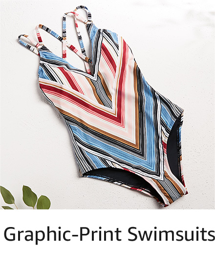 Graphic-Print Swimsuits