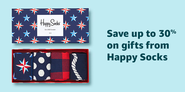 Save up to 30% on gifts from Happy Socks