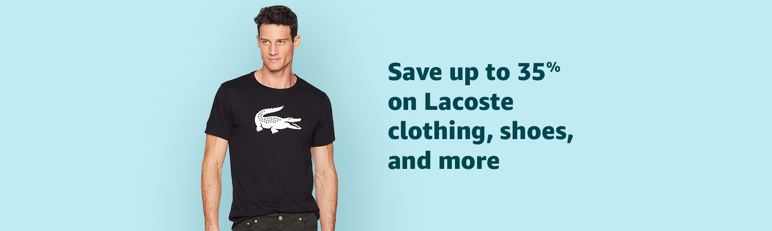 Save up to 35% on Lacoste clothing, shoes and more