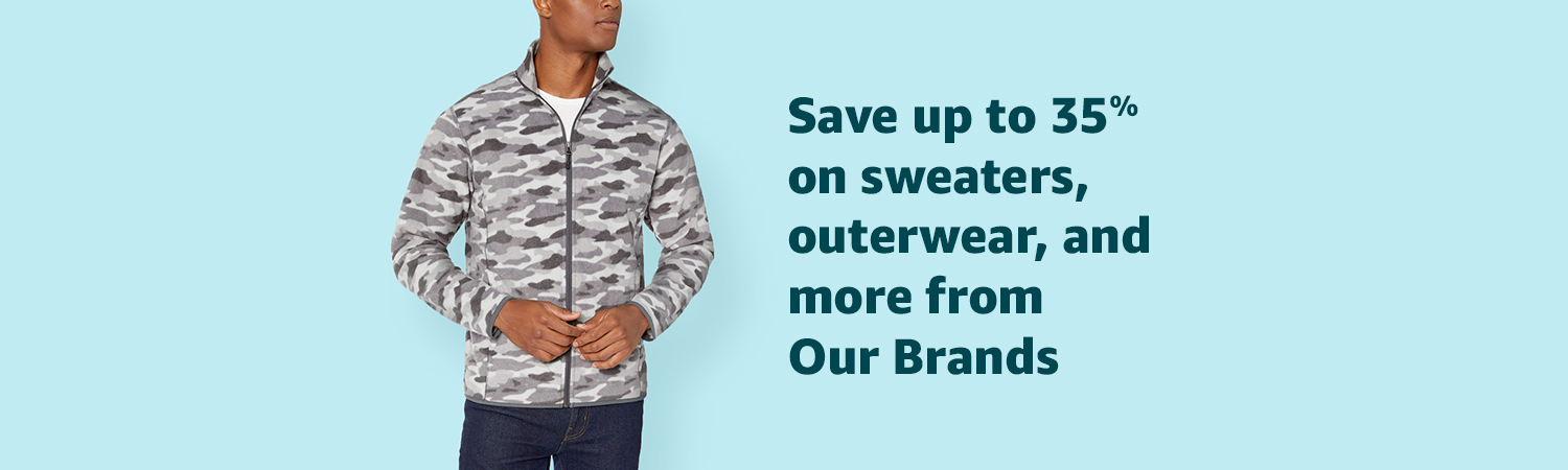 Save up to 35% on sweaters, outerwear, and more from Our Brands