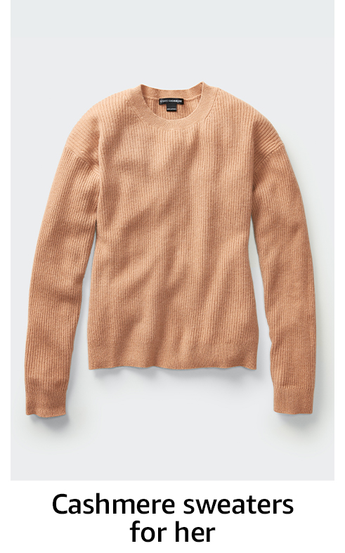 Cashmere sweaters for her